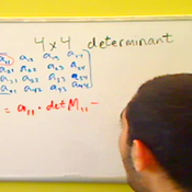 4 x 4 Determinants