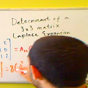 Finding the Determinant of a 3 x 3 Matrix using Laplace Expansion