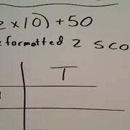 Calculating a T Score