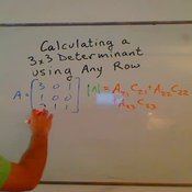 Calculating the Determinant Using Any Row or Column
