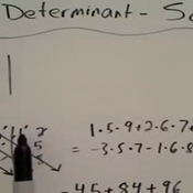 Finding the Determinant of a 3 x 3 Matrix Using Sarrus' Rule