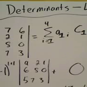 Finding the Determinant of a 4x4 Matrix