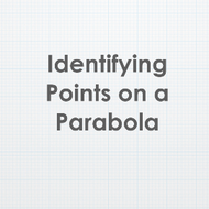 Identifying Points on Parabola