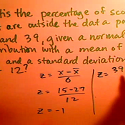Calculating the Percentage Outside Two Data Points