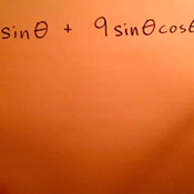 Finding a Common Factor for a Trigonometric Expression