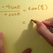 Solving an Equation by Applying a Half Angle Identity