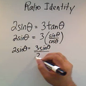 Applying a Ratio Identity to Solve an Equation