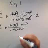 Solving an Equation by Multiplying by One