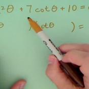 Solving an Equation by Factoring a Trigomometric Quadratic