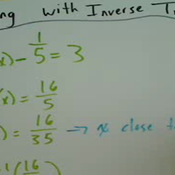 Applying an Inverse Function to Solve a Trigonometric Equation