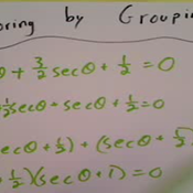 Solving an Equation by Factoring a Trigonometric Quadratic by Grouping