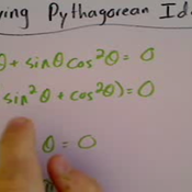 Applying a Pythagorean Identity to Solve an Equation