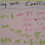 Solving for an Angle with a Coefficient