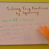 Solving an Equation by Squaring Both Sides