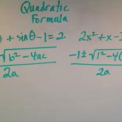 Solving an Equation Using the Quadratic Formula