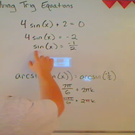 Solving an Equation by Multiplying or Dividing Through
