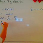 Solving an Equation by Converting to Sine and Cosine