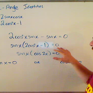 Solving an Equation by Applying a Double Angle Identity
