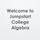 Welcome to Jumpstart College Algebra