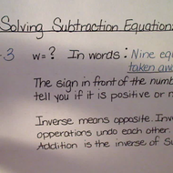 Solving Subtraction Equations