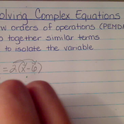 Solving Complex Equations