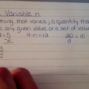 The Variable n