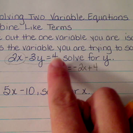 Solving Two Variable Equations