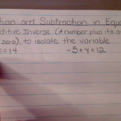 Addition and Subtraction in Equations