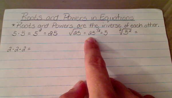Roots and Powers in Equations