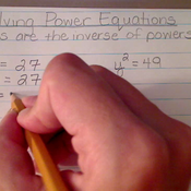 Solving Power Equations