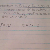 Introduction to Solving for a Variable
