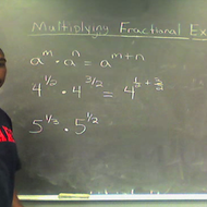 Multiplication Rule with Fractional Exponents
