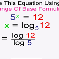 The Change Of Base Formula