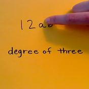 Degree in Monomials