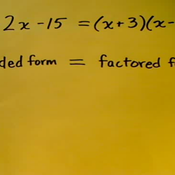 Factored and Expanded Polynomials