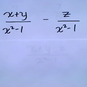 Algebraic Fraction  Addition and Subtraction