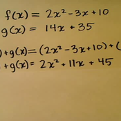 Adding or Subtracting Two Functions