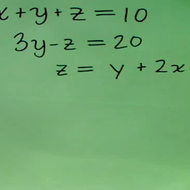 Three Variable Simultaneous Equations