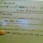 Using the Discriminant