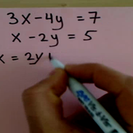 Solving and Using Substitution