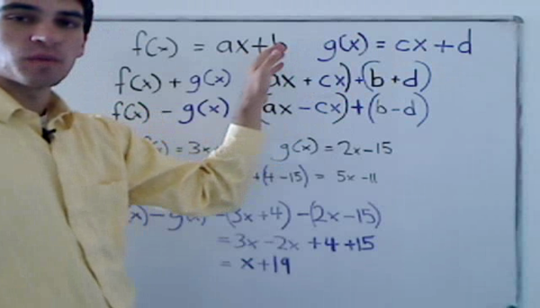 Addition and Subtraction of Functions