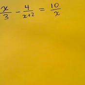 Algebraic Fraction Equations