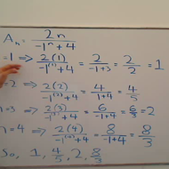 Finding the First N Terms