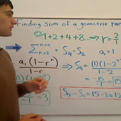 Finding the Sum of a Range Geometric
