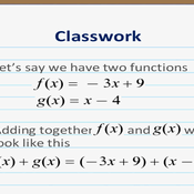 Adding or Subtracting Two Functions Tutorials, Quizzes, and Help ...