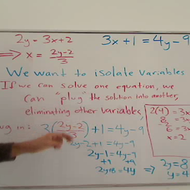 Solving for the Second Variable