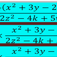 Reducing  Multiple Term Fractions