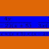 LCD in Algebraic Fractions