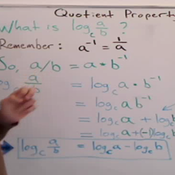 The Quotient Rule For Logarithms