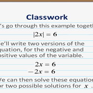 Absolute Value of a Variable